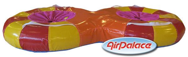 Ватрушка двойная надувная - для воды и снега 1,48*0,74 м