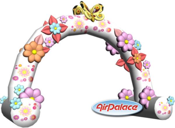 Надувная арка Кремовая 5*1,3*2,8 м