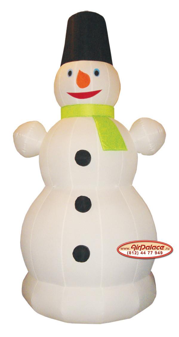 Надувная фигура Снеговик с шарфиком 3 м