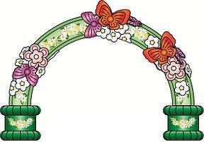 Большая надувная фигура арка с цветами Праздник 6,6*1,3*4,5 м