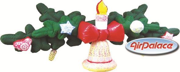 Большая надувная гирлянда ''Новогодняя'' 4,0*1,5*0,7 м