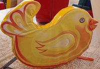 Цыпленок - мягкая сидушка детская 0,7*0,1*0,35 м