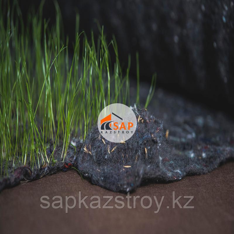 Полотно нетканое иглопробивное с семенами трав