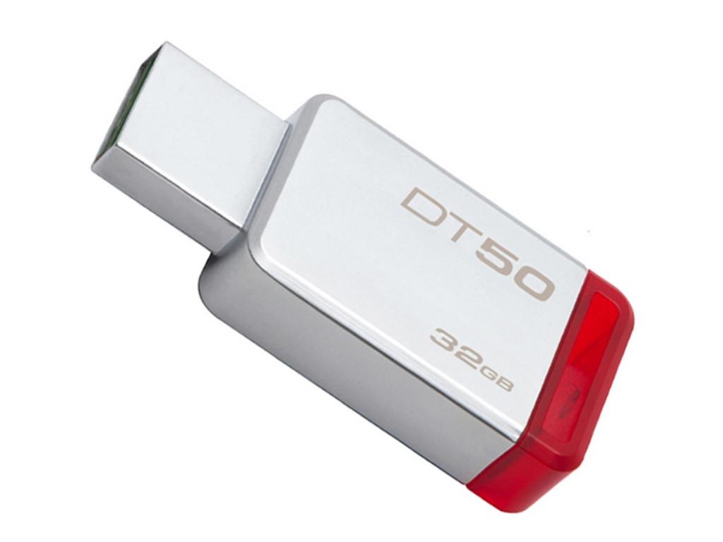 Флешка USB Kingston DT50, 32GB, Серебристый