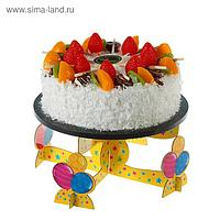 """Подставка под торт """"Поздравляем"""", шарики"""