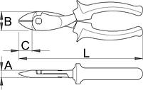 Бокорезы усиленные, рукоятки BI 466/1BI, фото 2