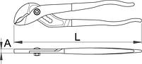 Клещи переставные с накладным шарниром 441/4P, фото 2