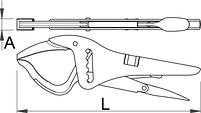 Клещи переставные с регулируемым винтом 434/3A, фото 2
