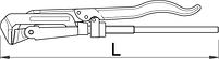Ключ трубный с зажимом 483/6, фото 2