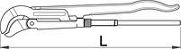 Ключ трубный (шведский тип) S-образный, угол 45° - 482/6, фото 2