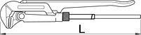 Ключ трубный (шведский тип), угол 90° - 480/6, фото 2