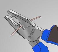 Плоскогубцы комбинированные, рукоятки BI 406/1BI, фото 3