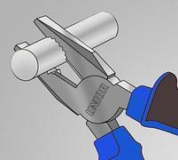 Плоскогубцы комбинированные, рукоятки BI 406/1BI, фото 5