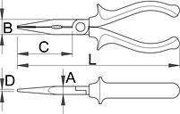 Плоскогубцы комбинированные, рукоятки BI 506/1BI, фото 2