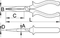 Плоскогубцы комбинированные, рукоятки BI 508/1BI, фото 2