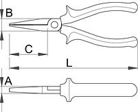 Плоскогубцы удлинённые, рукоятки BI 472/1BI, фото 2