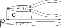 Съёмник внутренних стопорных колец с прямыми концами 536PLUS/1DP, фото 2