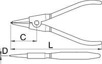 Съёмник наружных стопорных колец с прямыми концами 532PLUS/1DP, фото 2