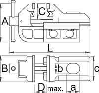 Тиски поворотные IRONGATOR с системой быстрого перемещения 721Q/6, фото 2