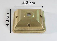Cap square brass (латунь)