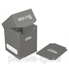 Коробочка для карт Deck case на 100шт, Ultimate Guard, цвет серый