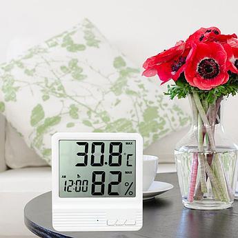 Гигрометр / Термометр / Часы CX-301 . Бесплатная доставка