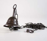 Canopy conic with chain dark-bronzed