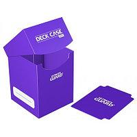 Коробочка для карт Deck case на 100шт, Ultimate Guard, цвет фиолетовый