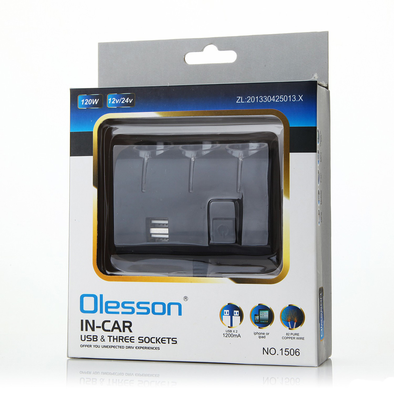USB тройник для прикуривателя Olesson 1506 - фото 5
