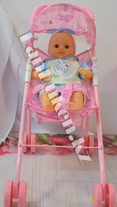 Кукла с коляской Diverting Baby (h=38 см) - фото 2
