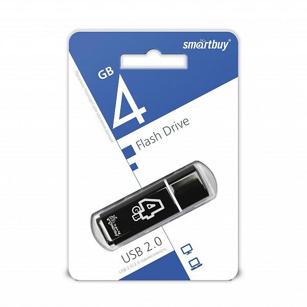 USB накопитель Smartbuy 4GB Glossy series Black