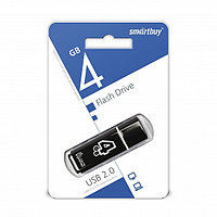USB накопитель Smartbuy 4GB Glossy series Black