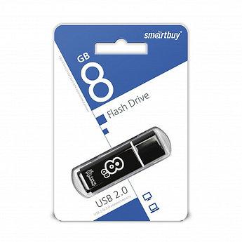 USB накопитель Smartbuy 8GB Glossy series Black