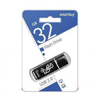 USB накопитель Smartbuy 32GB Glossy series Black