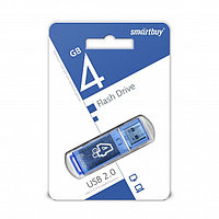 USB накопитель Smartbuy 4GB Glossy series Blue