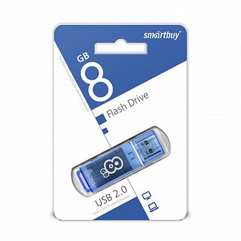 USB накопитель Smartbuy 8GB Glossy series Blue