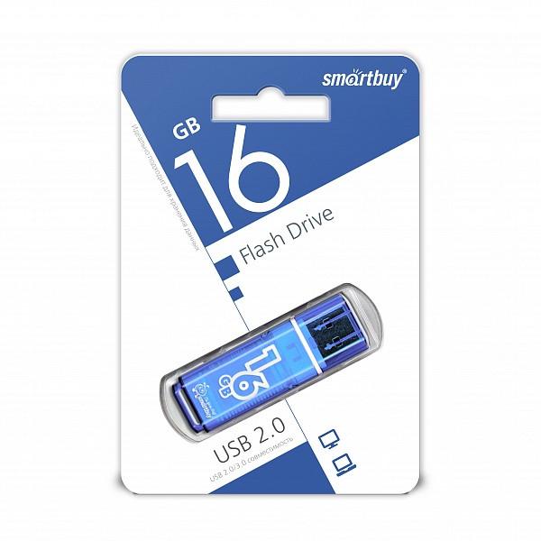 USB накопитель Smartbuy 16GB Glossy series Blue