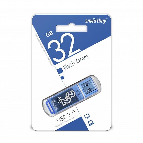 USB накопитель Smartbuy 32GB Glossy series Blue