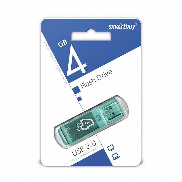 USB накопитель Smartbuy 4GB Glossy series Green
