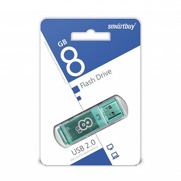 USB накопитель Smartbuy 8GB Glossy series Green