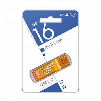 USB накопитель Smartbuy 16GB Glossy series Orange