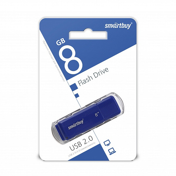 USB накопитель Smartbuy 8GB Dock Blue