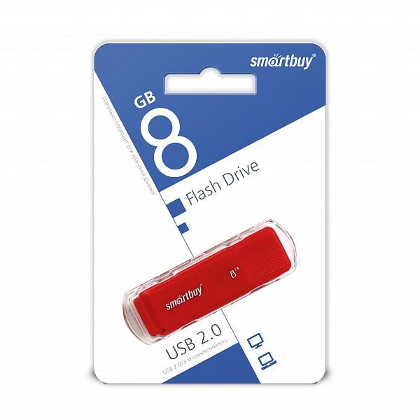 USB накопитель Smartbuy 8GB Dock Red
