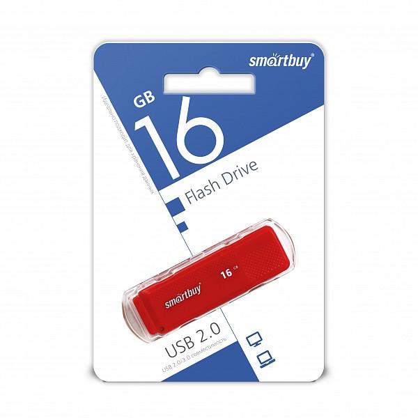 USB накопитель Smartbuy 16GB Dock Red