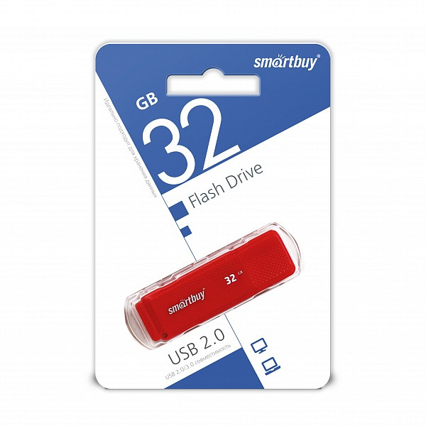 USB накопитель Smartbuy 32GB Dock Red