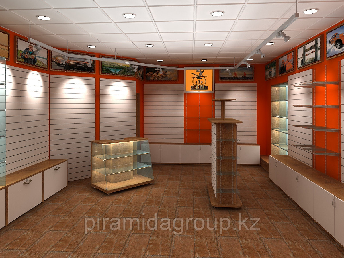 Оформление торговых площадей и изготовление витрин по индивидуальному заказу