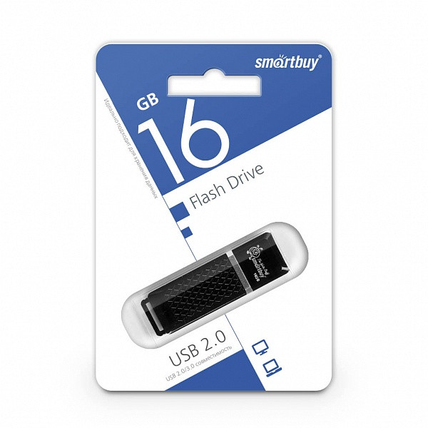 USB-накопитель Smartbuy 16GB Quartz series Black