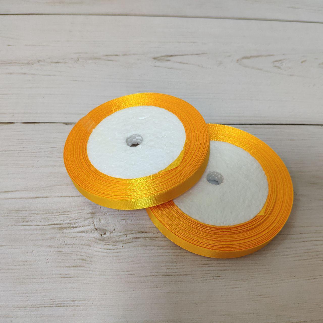Лента атласная 12мм светло-оранжевая