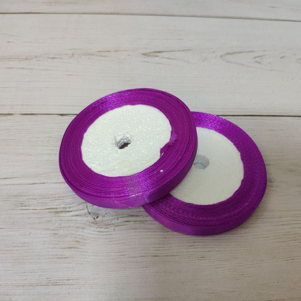 Лента атласная 12мм фиолетовый