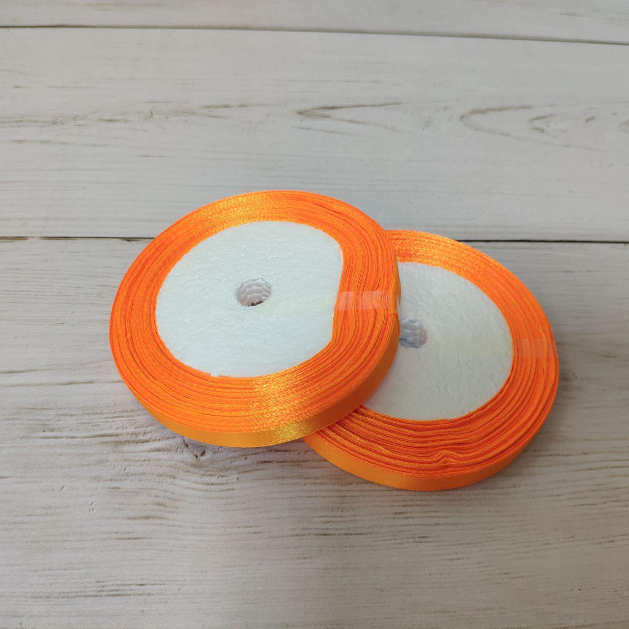 Лента атласная 12мм оранжевый